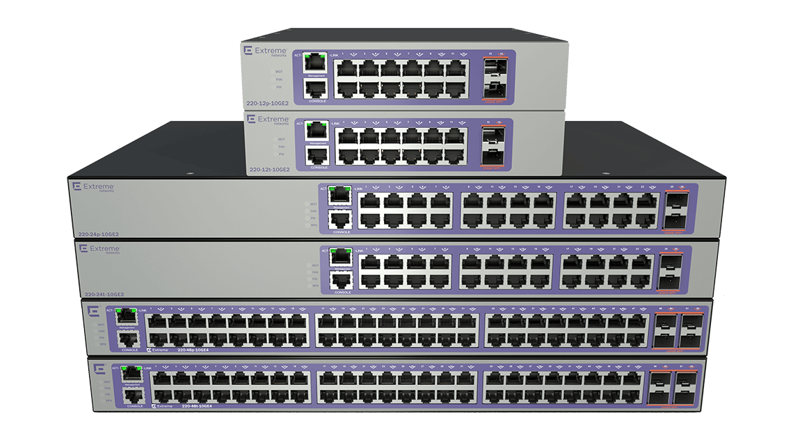 Layer 2 & 3 Ethernet Switches - Extreme Networks 200 Series